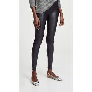 Spanx Faux Leather Pebbled Black Leggings S
